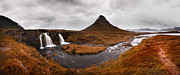 Nina Framed Prints - Iceland Kirkjufellfoss Framed Print by Nina Papiorek