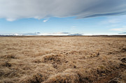 Yellow Pastels Prints - Iceland landscape Print by Francesco Emanuele Carucci