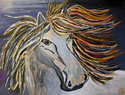 Forelock Painting Framed Prints - Icelandic Horse Framed Print by Becki Nation