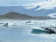 Jökulsá Prints - Icelandic Ice Lagoon Print by Moelyn Photos