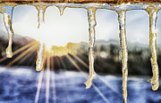 Thaw Photos - Icicles at Sunset by Thomas R Fletcher