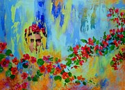 Frida Kahlo Flowers. Paintings - Icon by Mary James