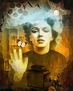 Actress Mixed Media Metal Prints - Icon Metal Print by Mo T