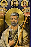 Byzantine Icon Photos - Icon of Holy Apostle Peter by Elzbieta Fazel