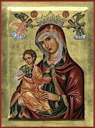 Byzantine Originals - Icon of Madre della Consolazione by Adamantia Karatza