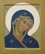 Byzantine Painting Framed Prints - Icon Framed Print by Seija Talolahti