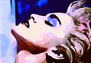 Madonna Digital Art - Icon Series - Madonna - True Blue by Dolly Mohr