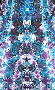 Tie Dye Tapestries - Textiles Metal Prints - Iconagraphic Totem Metal Print by Courtenay Pollock