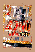Nyc Digital Art Metal Prints - Iconic 42nd Street-NYC Metal Print by Linda  Parker