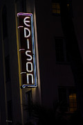 Edison Framed Prints - Iconic Edison Hotel South Beach Framed Print by Rene Triay Photography