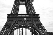 Black And White Paris Posters - Iconic Eiffel Poster by Georgia Fowler