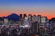 Tokyo Skyline Art - Iconic Mt Fuji With Shinjuku Skyscrapers by Duane Walker