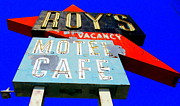 Roy Framed Prints - Iconic Roys On Route 66 Framed Print by Randall Weidner