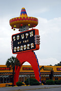Scenic Woodlands Posters - Iconic South Of The Border Poster by Skip Willits