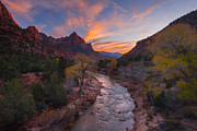 Virgin River Prints - Iconic Zion Print by Joseph Rossbach