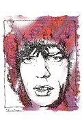 Mick Jagger Drawings - ICONS - Mick Jagger by Jerrett Dornbusch