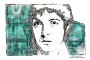 Paul Drawings - ICONS - Paul McCartney by Jerrett Dornbusch