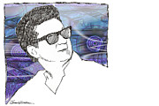 Roy Orbison Framed Prints - ICONS - Roy Orbison Framed Print by Jerrett Dornbusch