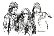 Ramones Prints - ICONS - The Ramones Print by Jerrett Dornbusch