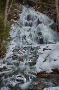 New England Prints - Icy flow of water Print by Jeff Folger