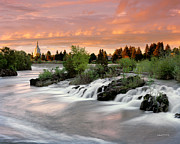 Idaho Prints - Idaho Falls Print by Leland Howard