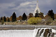Turbulence Prints - Idaho Falls Print by Mark Duffy