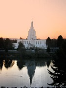 Angel Moroni Framed Prints - Idaho Falls Temple Framed Print by Image Takers Photography LLC
