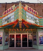 Clare Michigan Posters - Ideal Theater in Clare Michigan Poster by Terri Gostola