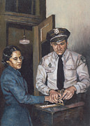 Police Art Paintings - Identification Rosa by Colin Bootman