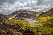 Clouds Digital Art Prints - Idwal Lake Snowdonia Print by Adrian Evans