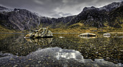 Llyn Idwal Prints - Idwal Stones Print by Mike Shields