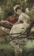 Romantic Prints Posters - Idyll Poster by Carl Larsson