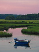 Fishing Boat Reflection Framed Prints - Idyllic Cape Cod Framed Print by Juergen Roth