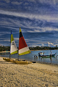 Property Metal Prints - Idyllic Thai Beach Scene Metal Print by David Smith