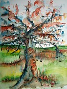 Tree Roots Painting Posters - If A Tree Could Talk Poster by Elaine Duras