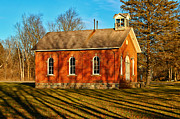 Old Schoolhouses Framed Prints - If I Had a Bell Framed Print by Rachel Cohen