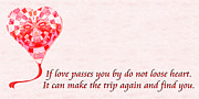 Love Poem Posters - If Love Passes You By Poem Poster by Andee Photography