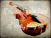 Play Prints - If music be the food of love play on Print by Edward Fielding