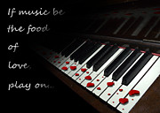 Shotwell Photography Prints - If music be the food of love with text Print by Kathi Shotwell