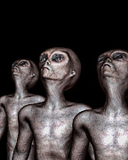 Extraterrestrial Digital Art - If One Was Three by Bob Orsillo