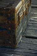 Vintage Photography Prints - If This Old Trunk Could Talk Print by Bonnie Bruno