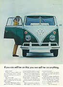 Hippie Van Posters - If You Can Sell Her On This..... You Can Sell Her On Anything Poster by Nomad Art And  Design
