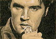 Elvis Presley Drawings - If youre looking for Trouble by Rob De Vries