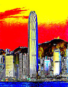 Ifc Prints - Ifc Tower Hong Kong Print by Ricky Nathaniel