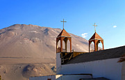 Churches Prints - Iglesia de San Geronimo Poconchile Chile Print by Kurt Van Wagner