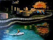 Jet Ski Paintings - Ignorance is Bliss by Janet Glatz