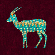 Indian Digital Art - Ikat Antelope by Budi Satria Kwan