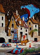 Il Drago Print by Guido Borelli