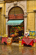 Greengrocer Framed Prints - il peperone Trieste Framed Print by Graham Hawcroft pixsellpix