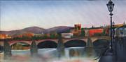 Il Ponte Santa Trinita Print by Leah Wiedemer